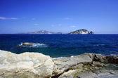 Sahil zakynthos island buzlu — Stok fotoğraf