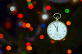 Fob watch and fairy lights — Foto Stock