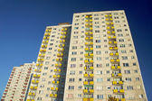 Urbanización con bloques en poznan — Foto de Stock