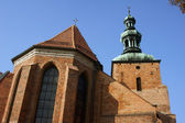 Gothic parish church in Gniezno — Stock Photo