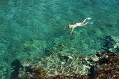 Nurkowania na wyspie zakynthos — Zdjęcie stockowe
