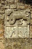 Weneckie lew w cytadeli, miasta zakynthos — Zdjęcie stockowe