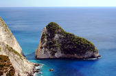 Klifu na wybrzeżu wyspy zakynthos — Zdjęcie stockowe