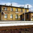 Small, old railway station — Stock Photo