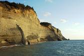 Cliffs on the island of Corfu, Greece — Stock Photo