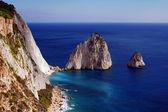 悬崖上的扎金索斯岛海岸 — 图库照片