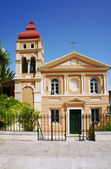 Byzantine church in Corfu town — ストック写真