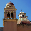 Towers Byzantine church in the city of Corfu — Stock Photo