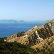 Coast with rock on island Zakynthos — 图库照片