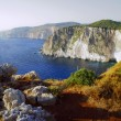 Rocky cliff on the island of Zakynthos — Stock Photo