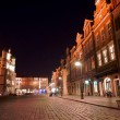 Stock Photo: Old Market at night in Poznan