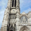 Gothic facade of the Saint-Pierre-et-Saint-Paul Cathedral in Troyes — Lizenzfreies Foto