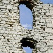 Stock Photo: Windows in ruined medieval castle in Ogrodzieniec