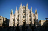 Gothic facade of the Milan Cathedral — Stock Photo