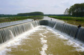 Threshold of water in Champagne — Stock Photo