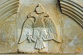 Relief with blazon in monastery on Zakynthos island — Stock Photo