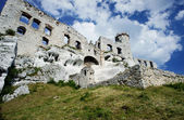 Ruined medieval castle with tower in Ogrodzieniec — Stock Photo