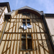 Tenement house in old town of Troyes — Stock Photo