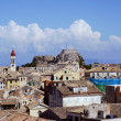 Old town on the island of Corfu — Stock Photo