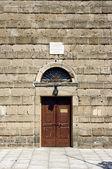 Door to byzantine church — Stock Photo
