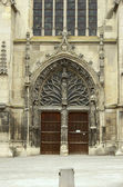 Front of Saint Remi Basilica in Reims — Stock Photo