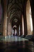 The interior of the cathedral in Poznan — Stock Photo