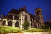 Church of Saint Nizier at night in Troyes — Stock Photo