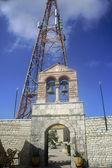 El monasterio y la antena — Foto de Stock