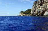 Rock kommuna op corfu eiland — Stockfoto