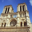 Stock Photo: Gothic facade of cathedral of Notre-Dame de Paris