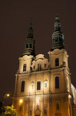 Baroque facade at night — Stock Photo