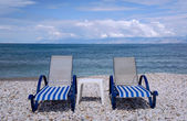 Beach chairs — Foto Stock