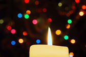 Flame of candle — Stock Photo