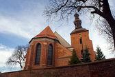 Gothic parish church — Stock Photo