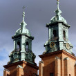 The towers of the Basilica Archdiocese — Stock Photo