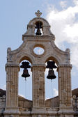The bell tower of the Orthodox monastery — Stock Photo