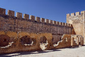 Tower and battlements of the walls of the Venetian fortress — Stock Photo