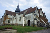 Kościół farny średniowiecznego — Zdjęcie stockowe