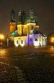 The Cathedral Church at night — Stock Photo