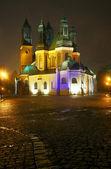 大教堂的教会在晚上 — 图库照片