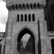 Stock Photo: Gothic gate to church