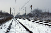 Railway winter — Stock Photo
