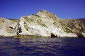 White rock cliff o — Stockfoto