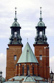 The towers of the Basilica — Stock Photo