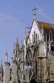 Stone details of a Gothic church — Stock Photo