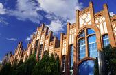 Pseudo-Gothic facade — 图库照片