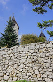 A stone wall at the temple — Stock Photo