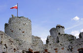 Towers of the ruined castle — Stock Photo