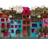 Ilustrowany pięknej ulicy — Zdjęcie stockowe