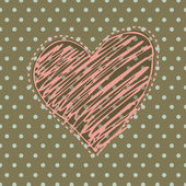 Romantic background with illustrated heart — Stock Photo